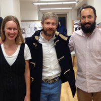 Martin Freeman makes a visit to Gloverall London showroom.