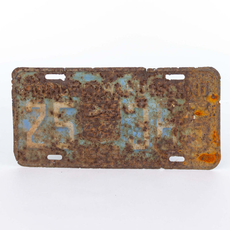 1959 PEI License Plate Corroded