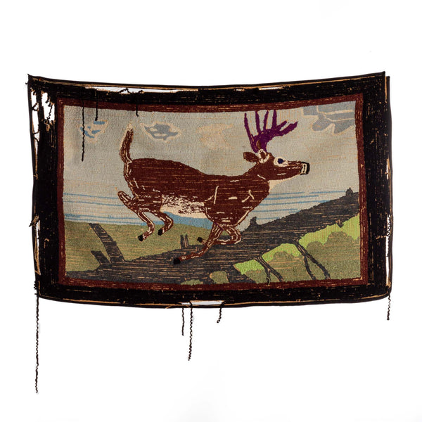 Hand Knotted Carpetmat Stag