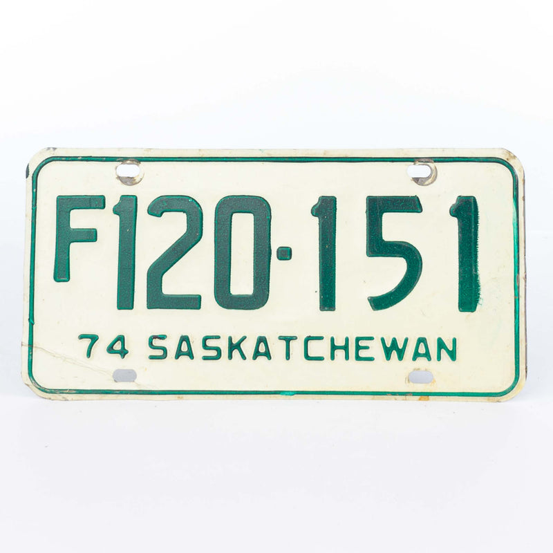 1974 Saskatchewan License Plate
