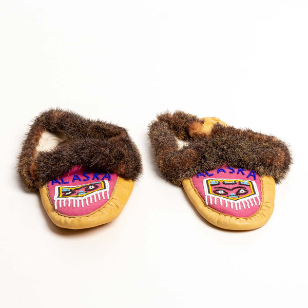 Authentic Tlingit Beaded Moccasins ca. 1940