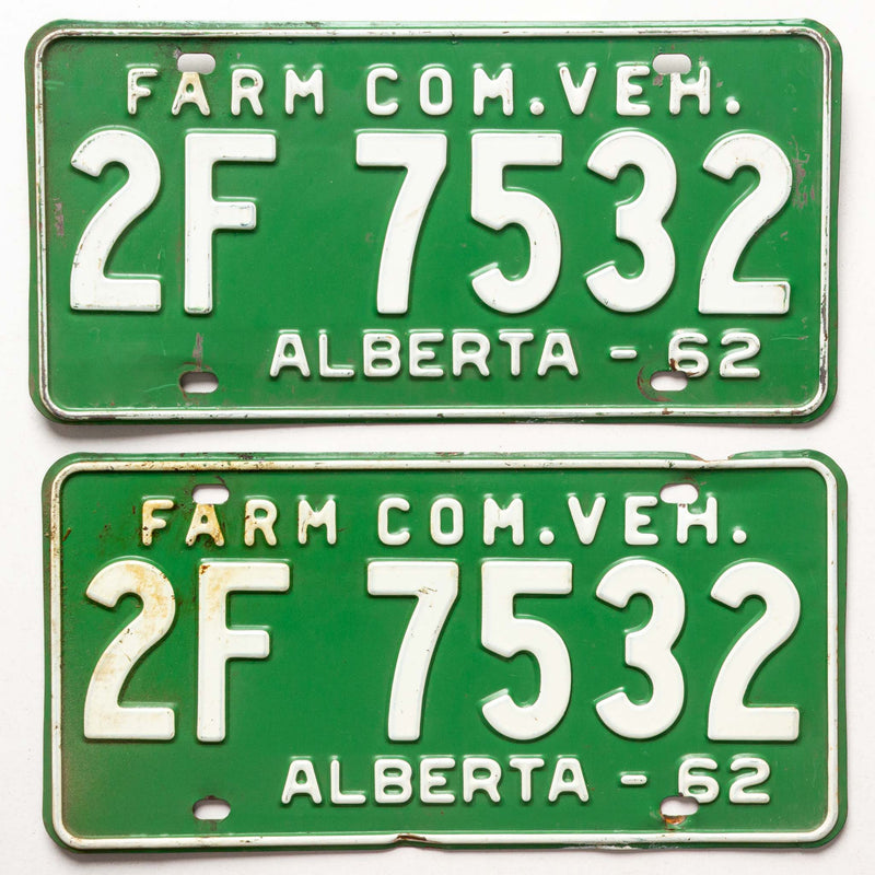 1962 Pr Ab Farm License Plates