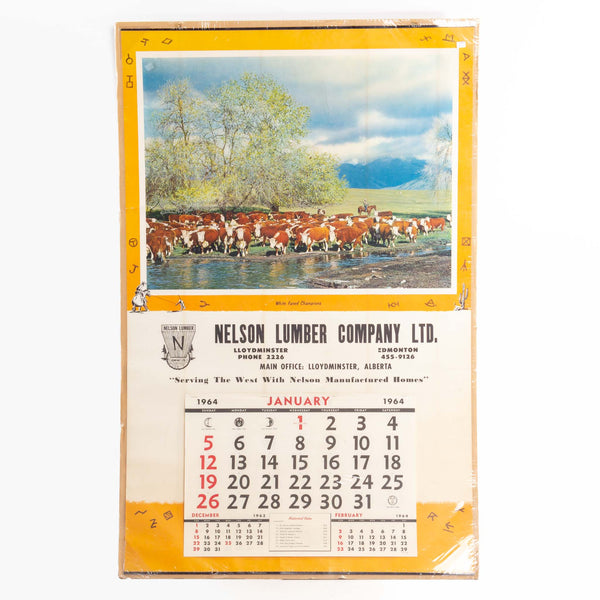 1964 Cattle And Brand Calendar