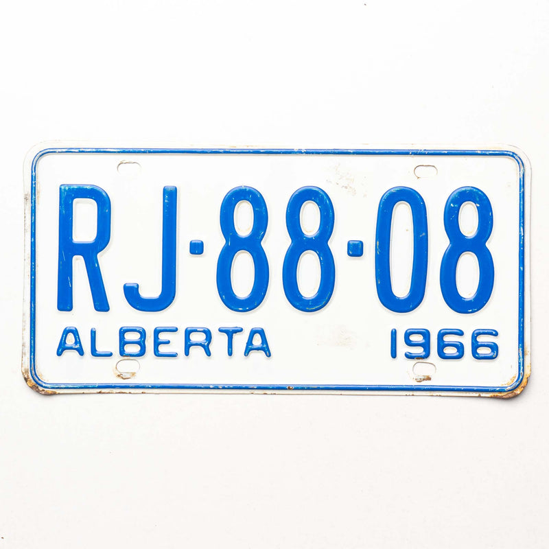 1966 Ab License Plate