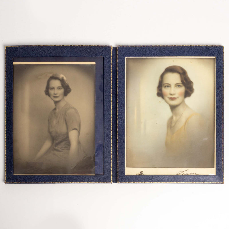 two portraits of lady