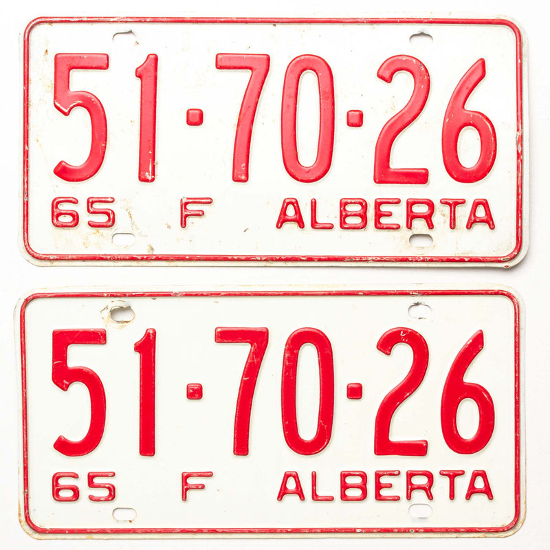 1965 Ab Farm License Plate Pair