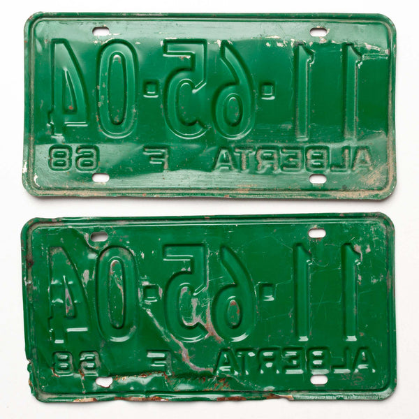1968 Ab Farm License Plates Pair 11 65 04