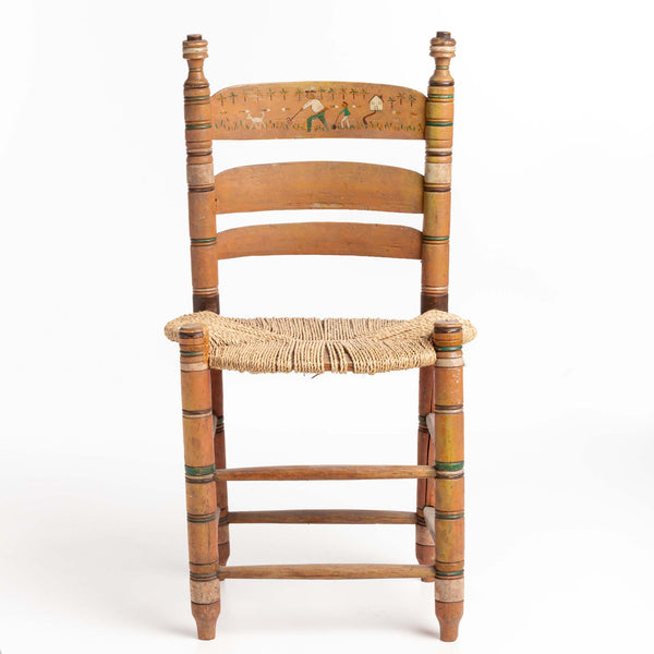 Chair from Quebec with Rush Seat