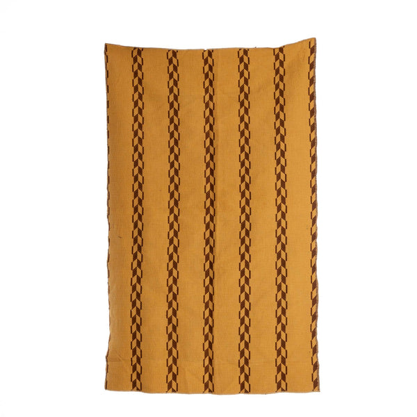 Tan And Brown Geometric Pattern Cloth 26 X 42