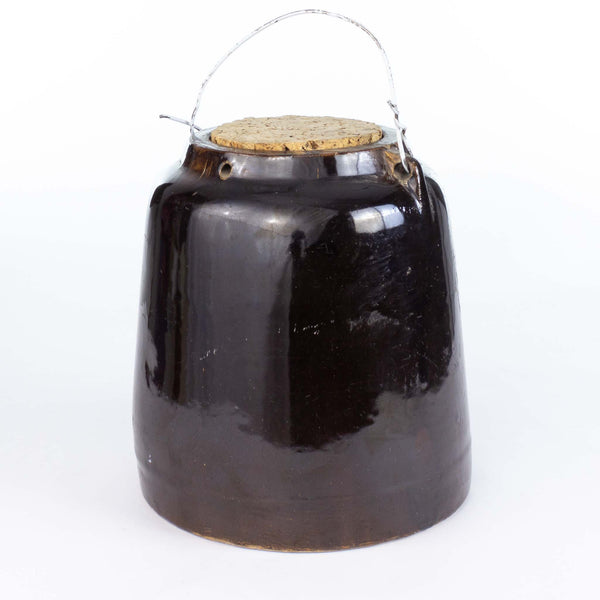 Vintage Fermenting Crock Brown With Cork Lid
