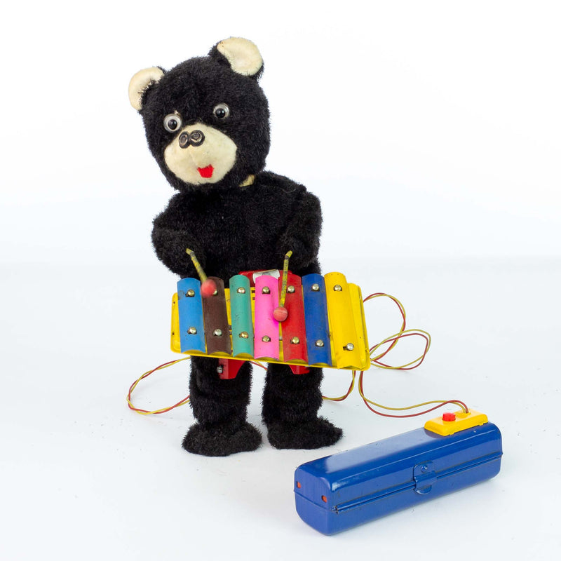 Linemar Battery Xylophone Bear Japan - 1950s