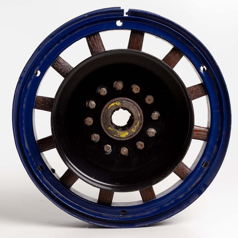 Blue Powder Coated Rim Wood Spoke