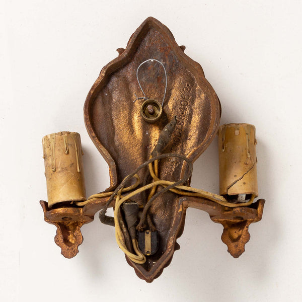 1920's Cast Metal Double Wall Sconce