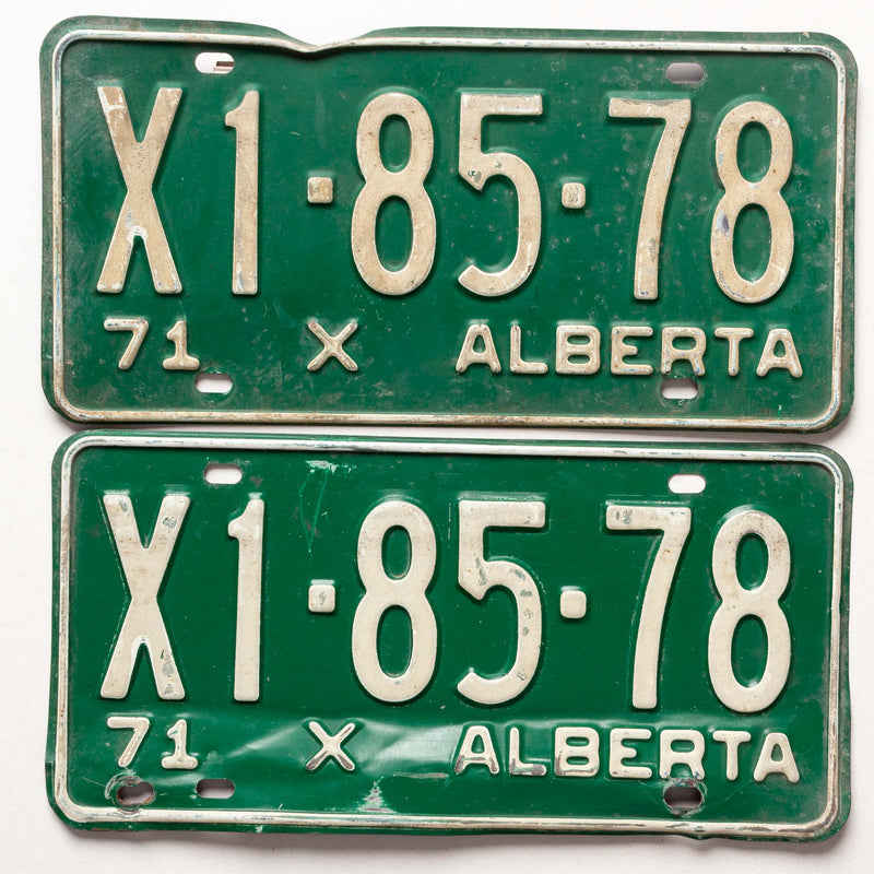 1971 Pr Ab Commercial License Plate