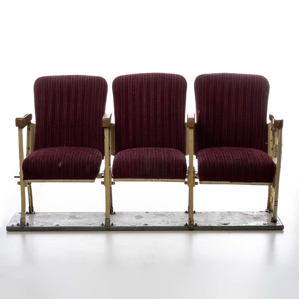Upholstered Theatre Seats (Set of 3)