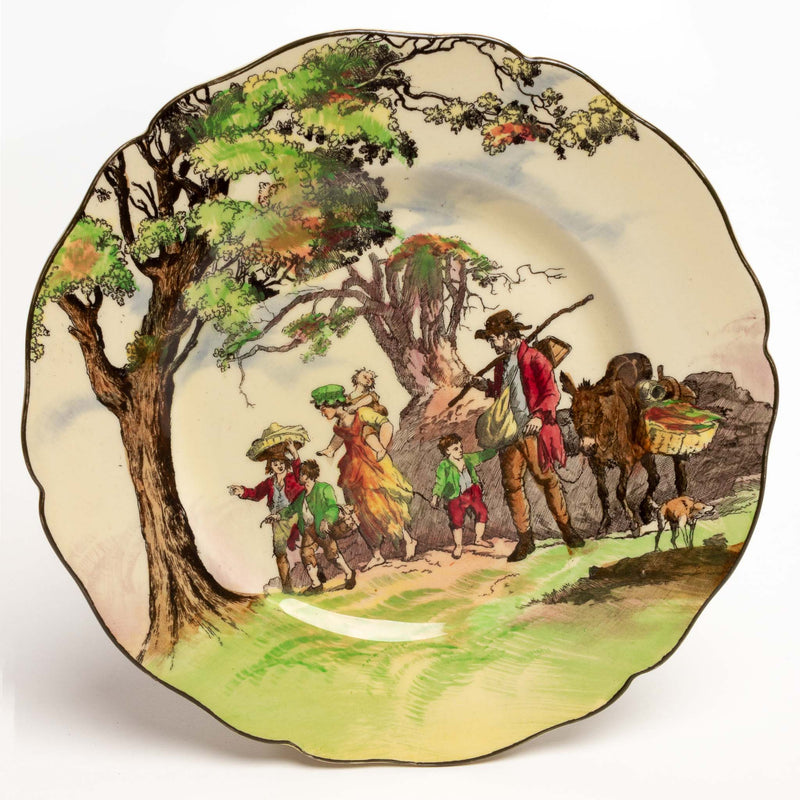 "Royal Doulton The Gipsies Round 9"" Plate"