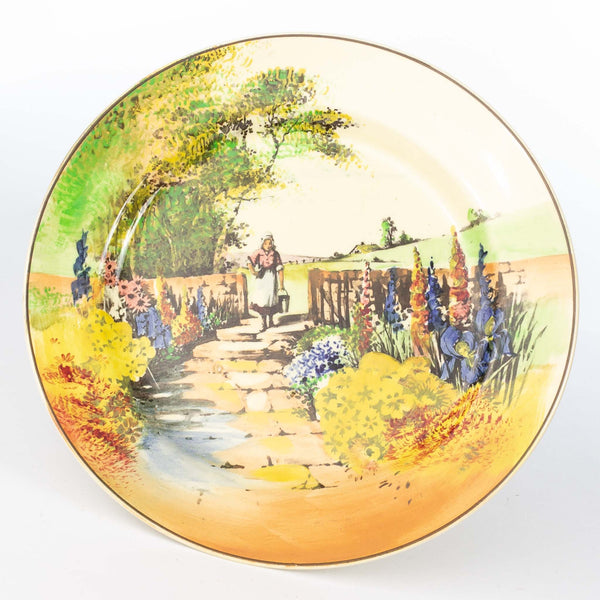 Royal Doulton Series Ware Plate Woman In Garden
