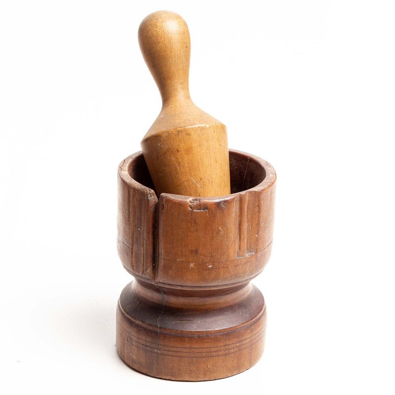 Wooden Mortar And Pestle