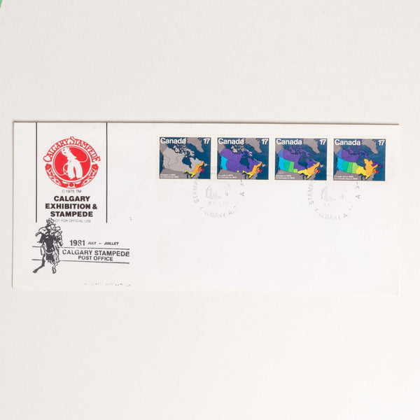 Calgary Stampede Envelop - 1981, Post Office Cancelation