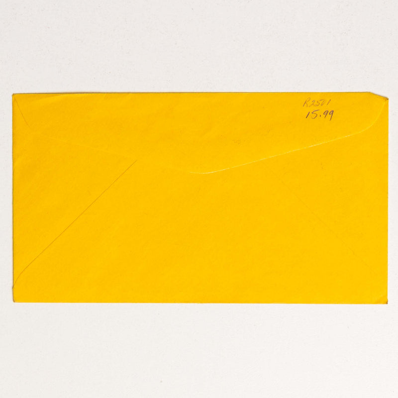 Stampede Post Office Yellow Envelope - 1955