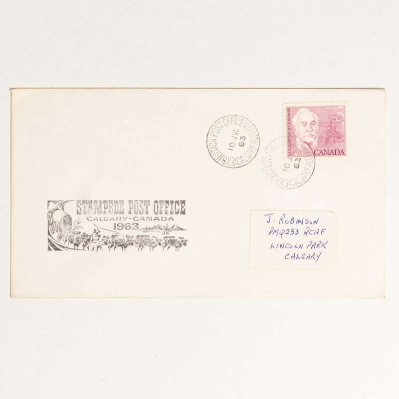 Stampede Post Office Envelope - 1963