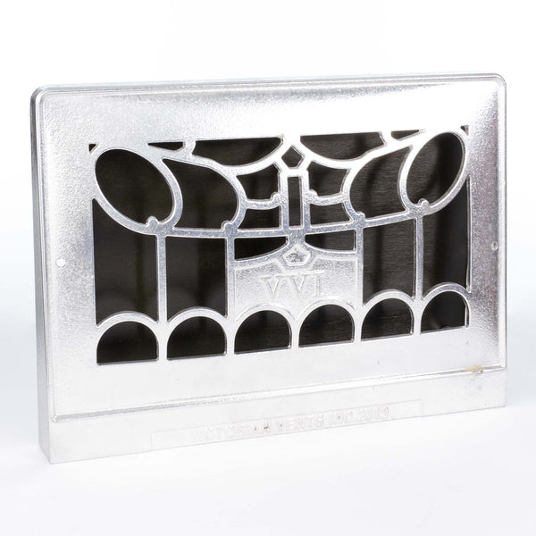 "New 15"" Silver Cast Iron Wall Grate"