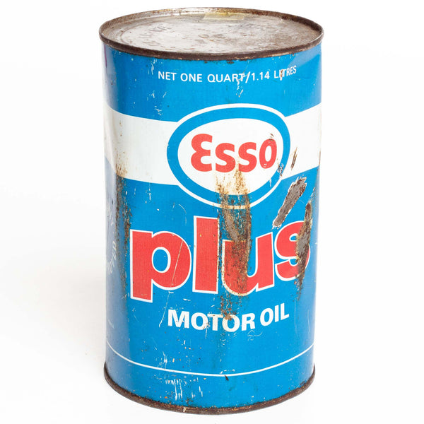 Esso Plus Oil Can 1-Qt Metal