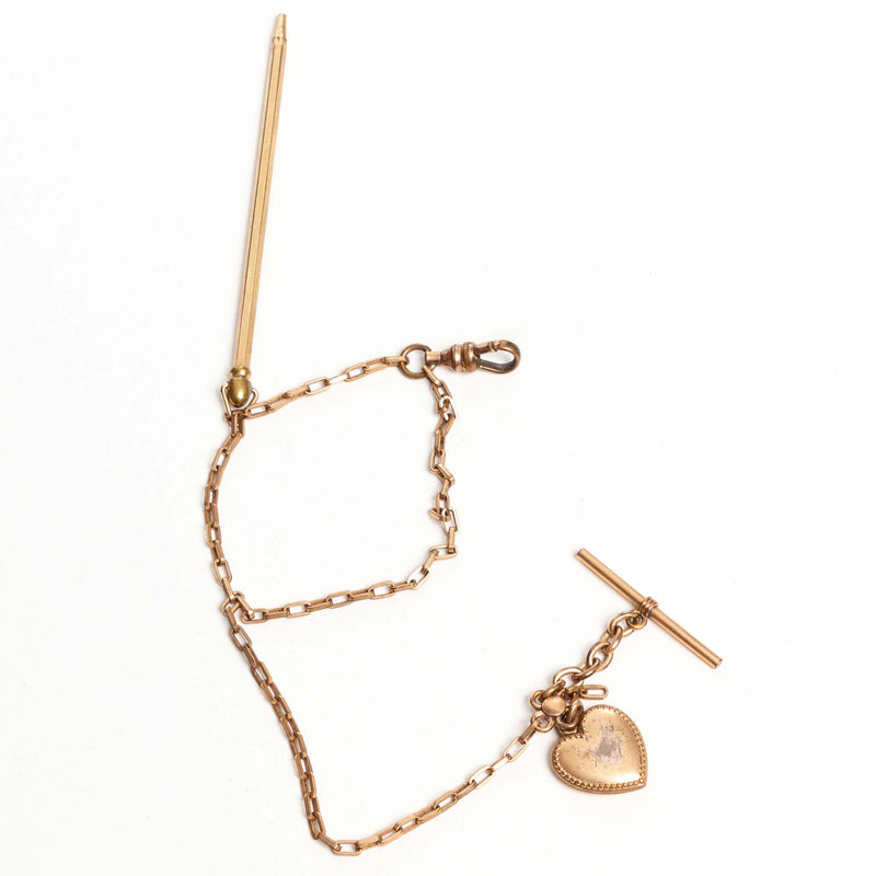 Gold Fill Chain Fob and Pencil