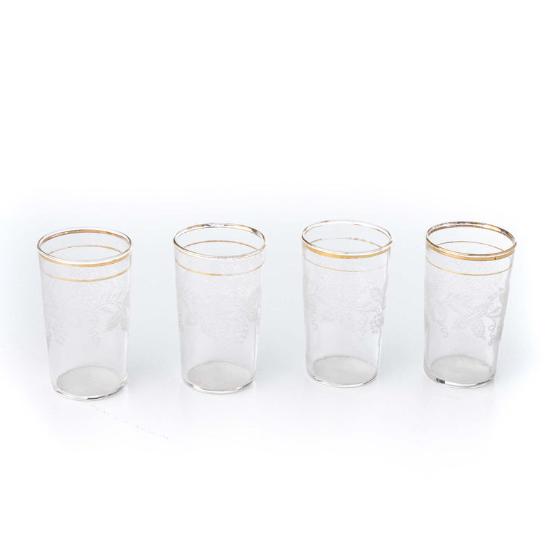 Grape Vine Frosted Juice Glasses