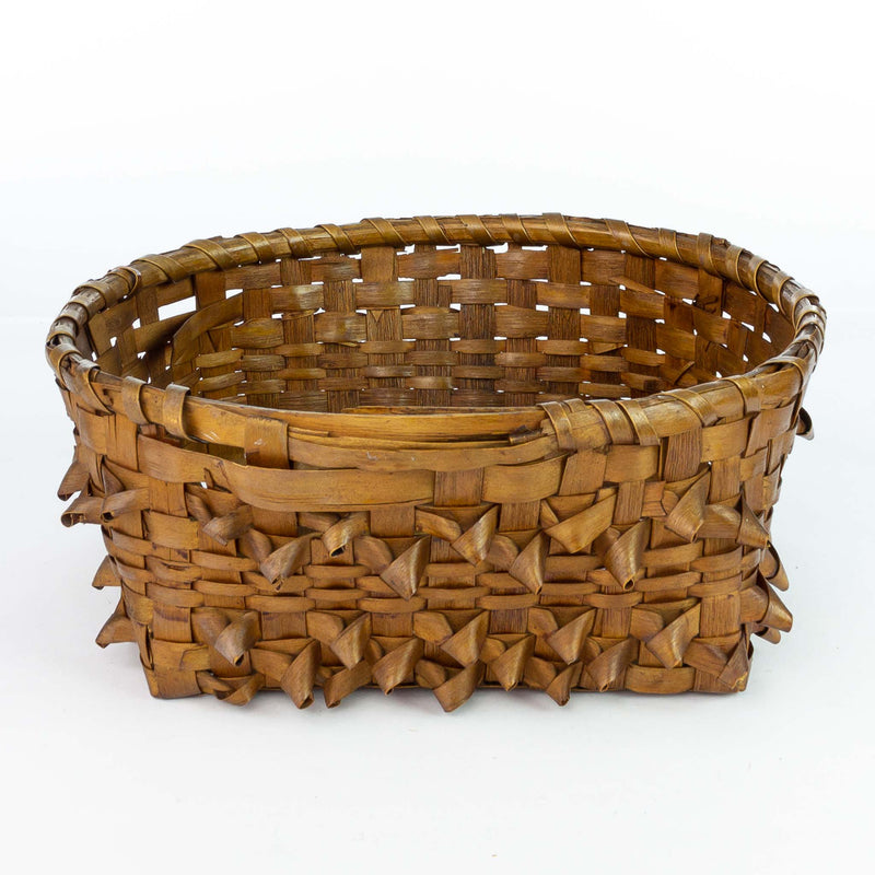 Open Weave Basket Square Base and Round Top