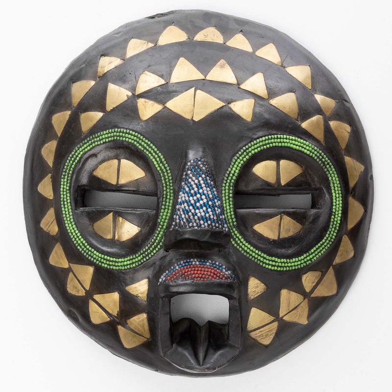 Tribal Painted African Mask from Ghana