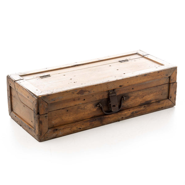 Pine Tool Box with Three-Quarter Split Lid