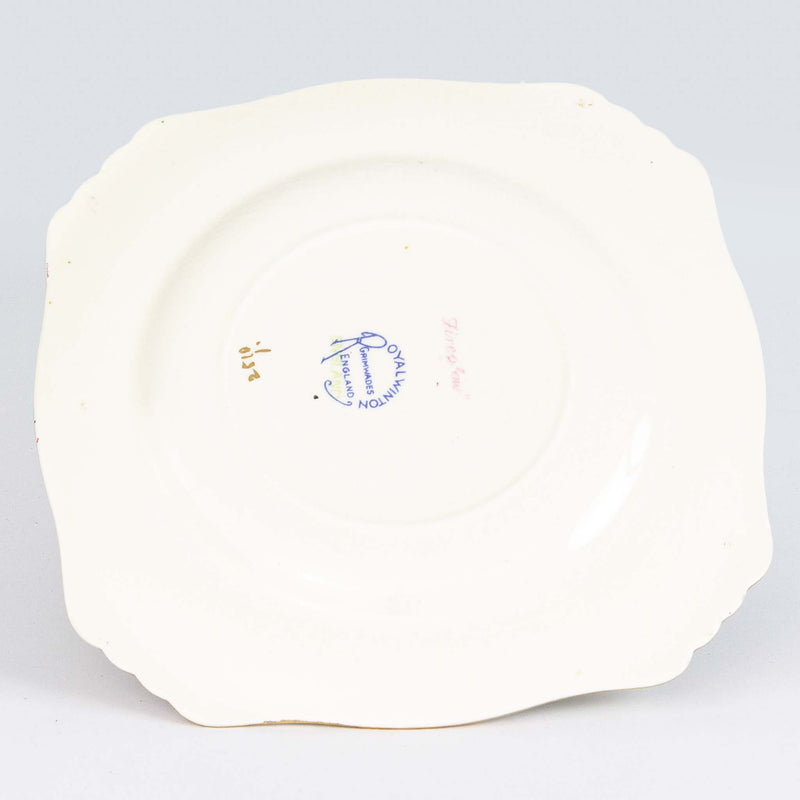 "Royal Winton 6"" Bread & Butter Plate White Fireglow"