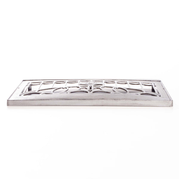 "New 25"" Pewter Cast Iron Wall Grate"
