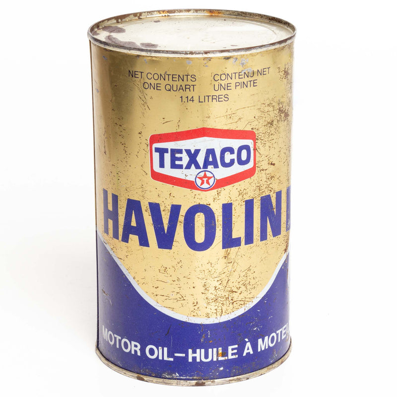 Texaco Havoline 1-Quart Metal Oil Can