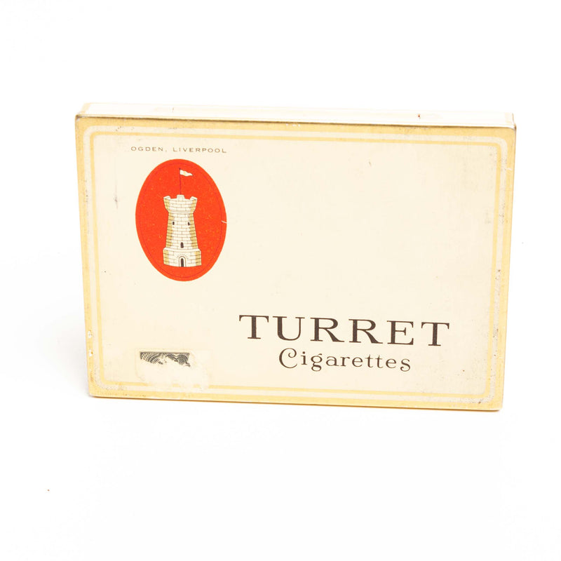 Turret Flat Cigarette Tin