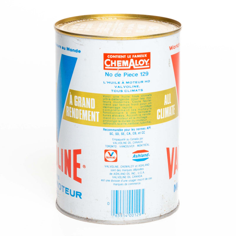 Valvoline 1 Litre Metal Oil Can