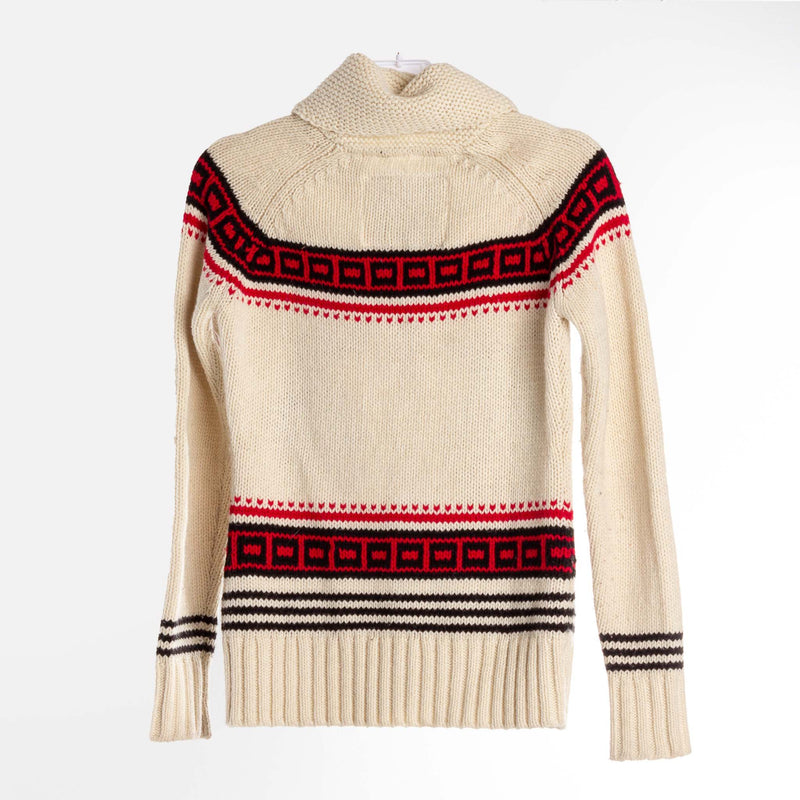 Reindeer Zip Knit Sweater