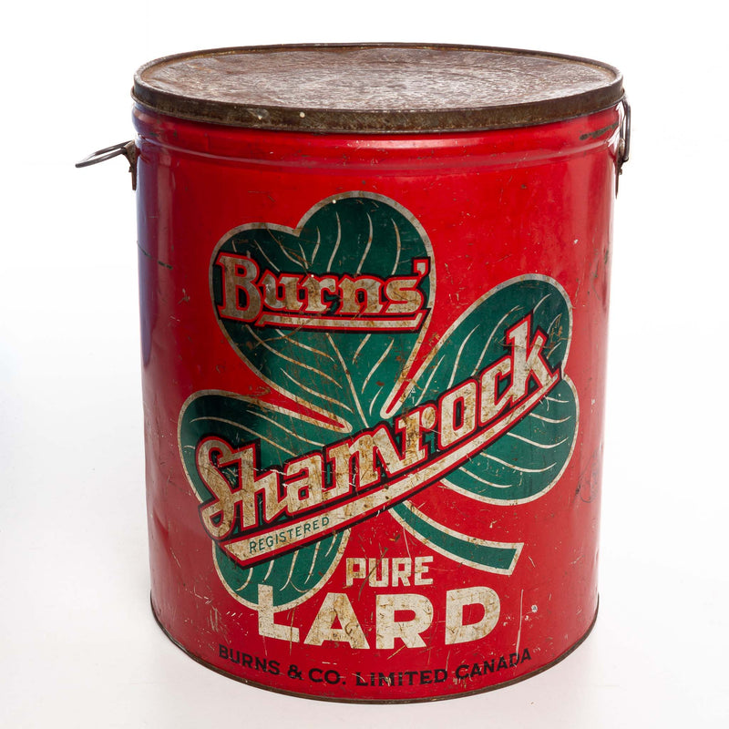 Burns Shamrock Lard Tins