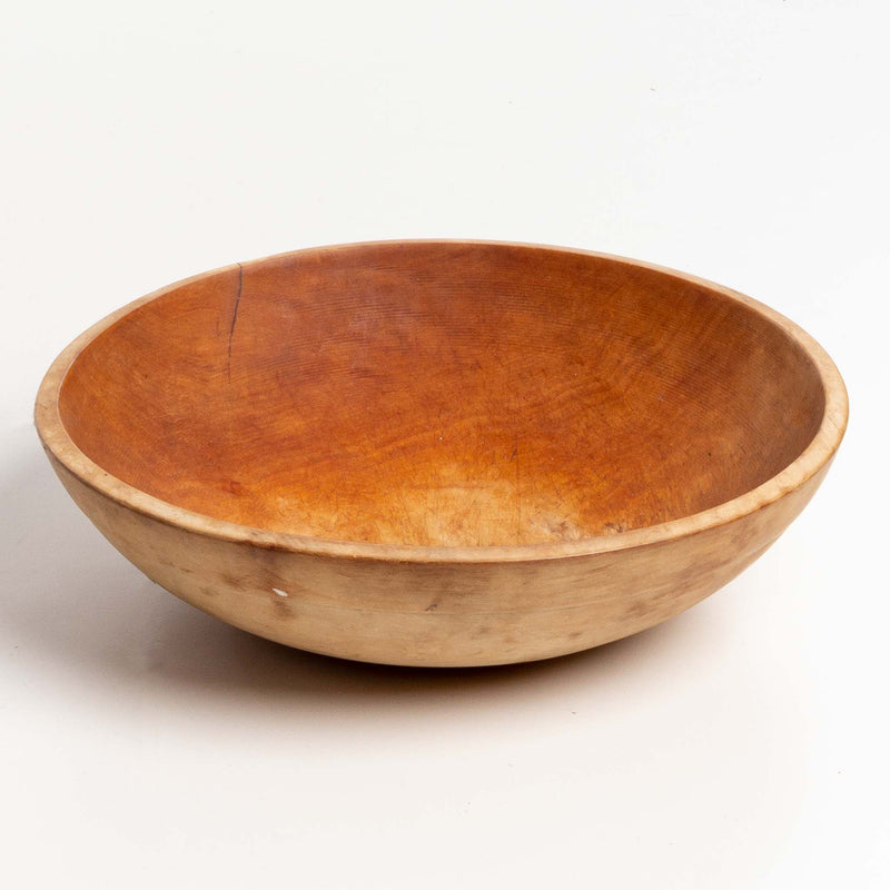 "Out of Round Wood Dough Bowl (14x15"")"