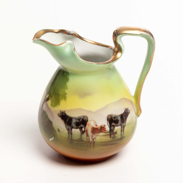 Small Pitcher with Cow Design