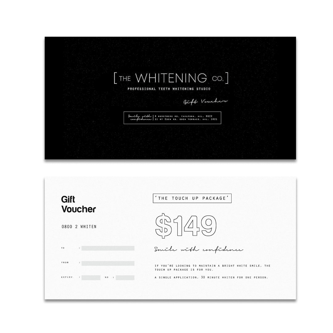 Gift Voucher: The Touch Up Package (In-Studio Whitening)