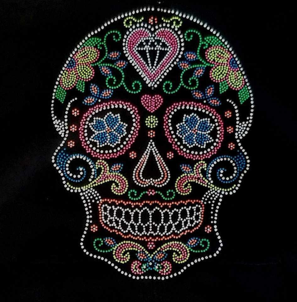 Sugar Skull  with Heart