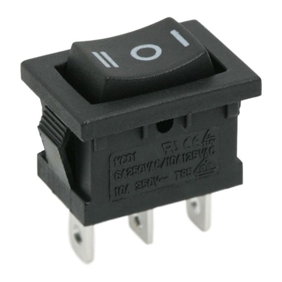 Interupator basculant 1 circuit 6A-250V ON-OFF-ON marcaj I-O-II