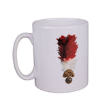 White Mug with Fusilier Hackle and Cap Badge