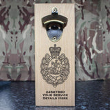 Royal Regiment of Fusiliers Crest Wall-Mounted Bottle Opener