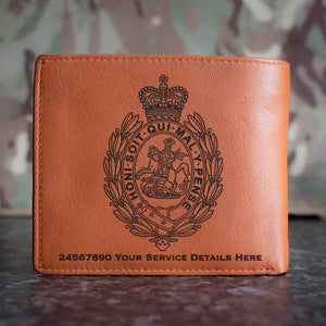 Royal Regiment of Fusiliers Crest Leather Wallet
