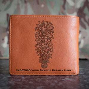Royal Regiment of Fusiliers Hackle Leather Wallet