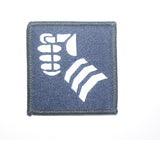 TRF – 20th Armoured Infantry Brigade (The Iron Fist) – White Fist on Navy – 50 x 50mm
