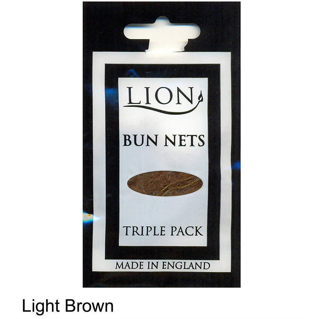 Bun Net x 3 - Light Brown Mesh - Light Brown